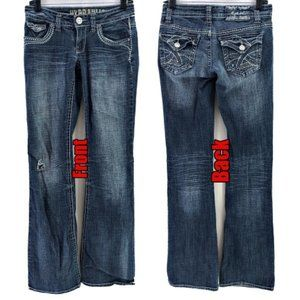 HYDRAULIC Gramercy Boot Cut Button Flap Jeans 1/2